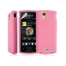 Shell silicone case cover for sony ericsson xperia ray color pink + film