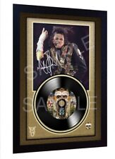 Michael Jackson Dangerous SIGNED FRAMED PHOTO PRINT AND Mini LP Perfect Gift