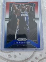 2019-20 Panini Red White Blue Prizm #248 Zion Williamson Pelicans RC Rookie
