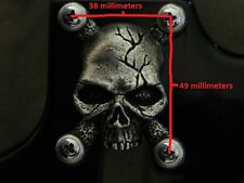 Skull neck plate for fender strat stratocaster guitar made in USA solid metal