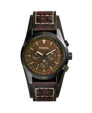 Fossil Men's CH2990 Coachman Chronograph Brown Dial Oak Barrel Leather Watch