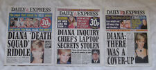 Princess Diana There Was a Cover-up and more 3 partial newspapers UK RARE