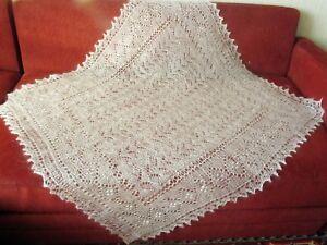 Beautiful hand knitted down Orenburg Shawl/Scarf
