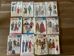 Lot of 12 vintage BURDA sewing pattern costume German dreidel dress Indian sari