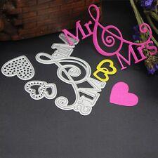 Mr Mrs Cutting Dies Stencils Scrapbook Album Paper Card Embossing DIY Craft