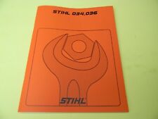 REPAIR SERVICE MANUAL FOR  STIHL CHAINSAW 034  AND 036  ------------------ MAN65