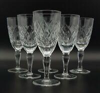 Set Of Six Vintage Lead Crystal Liqueur Glasses