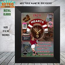 PERSONALISED HEART OF MIDLOTHIAN FC RETRO FOOTBALL FANS WALL CLOCK