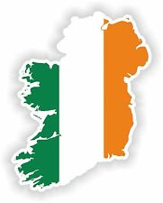 1x STICKER IRELAND EIRE SILHOUETTE BUMPER DECAL MAP FLAG