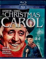 NEW BLU RAY + DVD - A CHRISTMAS CAROL - ALASTAIR SIM - Remastered Black & White