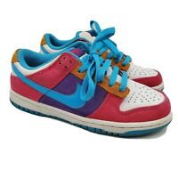 Nike 6.0 Dunk Low Womens Athletic Shoes Size 6.5 314141-641 Magenta Vivid Blue