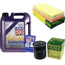 LIQUI MOLY 5L 5W-40 Motor-Öl+MANN-FILTER Filterpaket MG MGF RD 18i VVC
