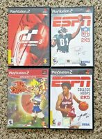PS2 GAME Lot of 4 fun games free Shipping Jak & Daxter,Gran Turismo 3, 2k5!As-Is