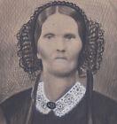 1860s? CIVIL WAR ERA ALBUMEN CABINET PHOTO FOLK ART ENHANCED OLD WOMAN CREEPY