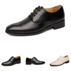Mens Dress Business Leisure Casual Shoes Pointed Toe Oxfords Wedding Club Shoes