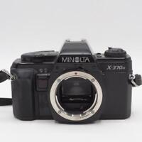 Vintage Minolta X-370N Manual Focus 35mm SLR Film Camera w/ Leather Case