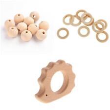 61pcs Holz Perlen Igel Form Beißring Spielzeug Beißring DIY Holz Handwerk