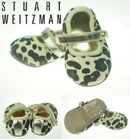 Stuart Weitzman Baby Girl Shoe Leopard Print Hard Sole US Size 1,3,4 (0-12m) NEW