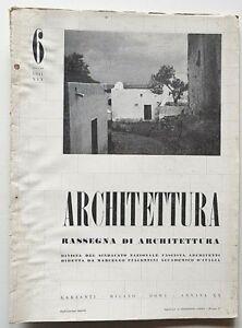 Architettura Rivista sindacato fascista n 6 1941 Piacentini Carbonara Biblioteca