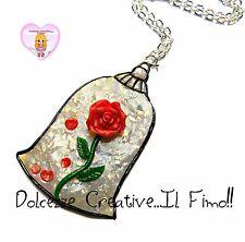 Collana Rosa incantata - La bella e la bestia - HANDMADE - kawaii idea regalo