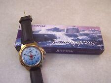 Vintage VOSTOK KOMANDIRSKIE Manual Wind Pilot Air Force Military Watch...Running
