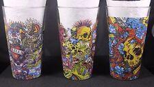 Don Ed Hardy Designs Halloween Glasses Set Of 3 Skulls Death Or Glory Devils