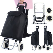 Folding Shopping Trolley Cart Bag Wheeled Luggage Grocery Portable Lightweight