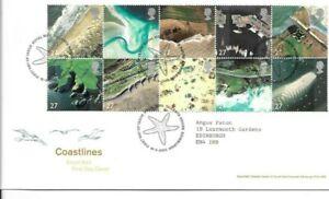 GB 2002 Coastlines FDC