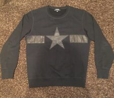 Diesel S-JOE-MA Star Sweatshirt Black Men's XL EUC 2017