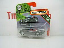 MATCHBOX JAGUAR XK 140 ROADSTER 1956 GREY BLACK 1:64 MINT ON SHORT CARD