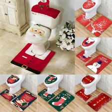 Santa Claus Rug Seat | Bathroom Set | Christmas Decorations | Home Party