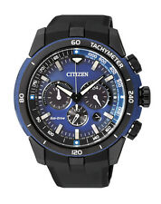 NEW Citizen Mens Stainless Steel Eco-Drive Chronograph Watch - CA4155-04L