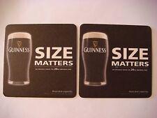 Beer Coaster ~*~ GUINNESS Brewery Irish Stout ~ Dundalk, IRELAND ~ Size Matters