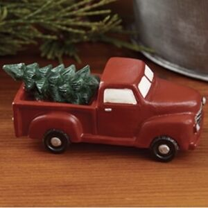 Little Red Truck With Tree- Farmhouse Christmas Shelf Sitter - Rustic