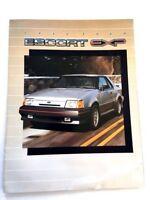 1986 Ford Escort EXP Original Sales Brochure - Foldout Guide