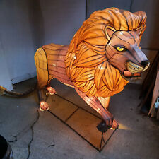 More details for  lion,life size,zoo,model,illuminated,metal frame,fabric,figure,sculpture,animal