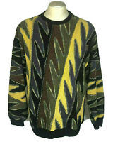 Tundra Mens Sweater XL Vintage Textured Biggie Hip Hop 90's Coogie Cosby Style