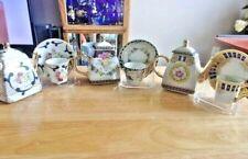 Miniature Matching 3 Tea Pots With 3 Tea Cups & Saucer Sets Imperial Porcelain