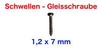 200 Schwellen - Gleisschrauben von ENHE für Spur Z (1,2 x 7 mm)