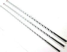 3pc Masonry Drill Bits 400mm Long 8mm 10mm 12mm Masonry Wall Drilling Bit DR380