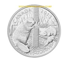 2013 $50 FINE SILVER 5-OUNCE COIN - THE BEAVER