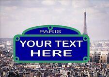 Signo calle París reproducción signo de Aluminio Personalizado signo calle París