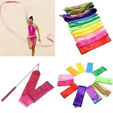 Multi-color Dance Ribbon Streamer Twirling Rod Art Gymnastic Training Ballet