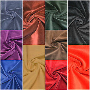 """Cotton Velvet Fabric 45"""" Wide Non Stretch For Costume Dress Crafting Decoration"""