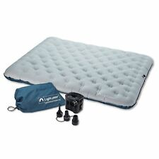 Lightspeed Outdoors 2 Person Air Bed Pvc Battery Operated Pump Grey And Navy