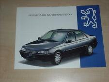 61332) Peugeot 405 SR SRi SRDT SRX 4 Prospekt 07/1993