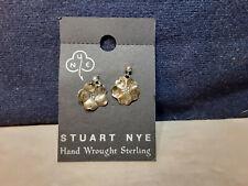 Stuart Nye Hand Wrought Sterling Earrings Clovers
