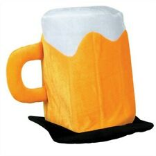 Plush Beer Mug Head Hat Adult Size Fits Most Beer Party Supplies Decorations