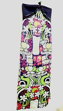 Custo Barcelona Maxi Silk velvet Dress Size10,  NWT $198