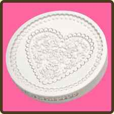 Katy Sue Designs LACE HEART CC23 Cake Crafting Mould Romantic Wedding Engagement
